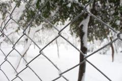 Χιονώδης φράκτης Στοκ Φωτογραφίες