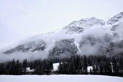 Χιονώδη βουνά, Άλπεις, Γερμανία Στοκ Φωτογραφίες