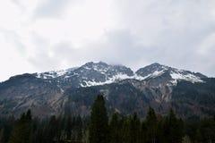 Χιονώδη βουνά, Άλπεις, Γερμανία Στοκ εικόνα με δικαίωμα ελεύθερης χρήσης
