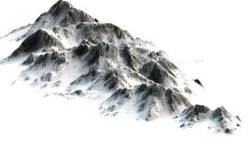 Χιονώδη βουνά - αιχμή βουνών που απομονώνεται στο άσπρο υπόβαθρο Στοκ φωτογραφίες με δικαίωμα ελεύθερης χρήσης