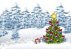 Χιονώδη Χριστούγεννα Στοκ φωτογραφία με δικαίωμα ελεύθερης χρήσης