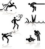 χιούμορ 3 παιχνιδιών ολυμπ&io απεικόνιση αποθεμάτων