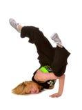 Χιπ χοπ ή χορεύοντας κορίτσι σπασιμάτων στοκ εικόνα