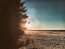 Χιόνι ήλιων Στοκ Εικόνες