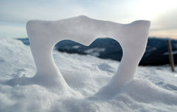 χιόνι αγάπης Στοκ Φωτογραφία