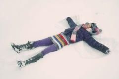 χιόνι αγγέλου Στοκ Εικόνα