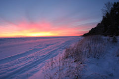 χιόνι ακτών Στοκ φωτογραφία με δικαίωμα ελεύθερης χρήσης