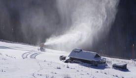 χιόνι ανεμιστήρων Στοκ εικόνες με δικαίωμα ελεύθερης χρήσης