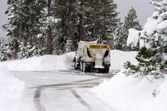 χιόνι αρότρων Στοκ Φωτογραφία