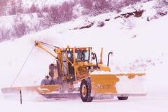 χιόνι αρότρων Στοκ εικόνα με δικαίωμα ελεύθερης χρήσης