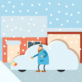 χιόνι αυτοκινήτων κάτω Στοκ εικόνα με δικαίωμα ελεύθερης χρήσης