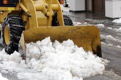 χιόνι αφαίρεσης Στοκ Φωτογραφίες