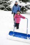 χιόνι αφαίρεσης Στοκ φωτογραφίες με δικαίωμα ελεύθερης χρήσης
