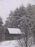 χιόνι βουνών σιταποθηκών Στοκ Εικόνα