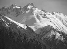 χιόνι βουνών Στοκ Εικόνες