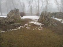 Χιόνι & βράχος Στοκ Φωτογραφία