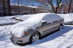 Χιόνι γειτονιάς στοκ φωτογραφίες