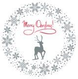 χιόνι γιρλαντών Χριστουγέν& Στοκ φωτογραφίες με δικαίωμα ελεύθερης χρήσης
