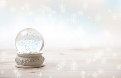 χιόνι διακοσμήσεων σφαιρώ Στοκ Εικόνα