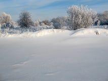 χιόνι εμποδίων Στοκ Φωτογραφία