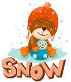 χιόνι επιστολών διανυσματική απεικόνιση