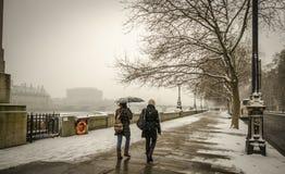 Χιόνι ζωής του Λονδίνου Στοκ Φωτογραφία