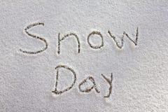 χιόνι ημέρας Στοκ Φωτογραφίες