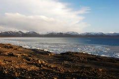 χιόνι Θιβέτ βουνών λιμνών πάγ&omicro Στοκ Εικόνα