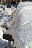 χιόνι κάτω Στοκ Φωτογραφία