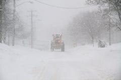 χιόνι καθαρίσματος Στοκ εικόνες με δικαίωμα ελεύθερης χρήσης