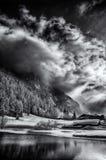 Χιόνι και ήλιος στα ελβετικά βουνά Στοκ Φωτογραφίες