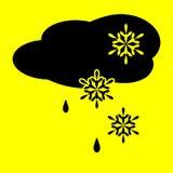 Χιόνι και βροχή σύννεφων εικονιδίων Στοκ εικόνα με δικαίωμα ελεύθερης χρήσης