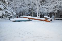 Χιόνι και μολύβια Στοκ Εικόνα