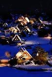 Χιόνι και νύχτα Στοκ φωτογραφίες με δικαίωμα ελεύθερης χρήσης