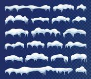 Χιόνι και πολικοί παγετώνες ελεύθερη απεικόνιση δικαιώματος
