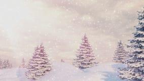 Χιόνι και χριστουγεννιάτικα δέντρα φιλμ μικρού μήκους
