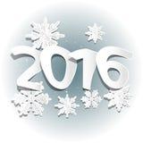 Χιόνι και 2016 Στοκ Εικόνες