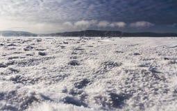 Χιόνι και Angara Στοκ Φωτογραφία