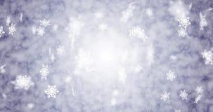 Χιόνι και snowflakes που πέφτουν κάτω Περιτύλιξη και 4K Τέλειο υπόβαθρο για τα Χριστούγεννα απεικόνιση αποθεμάτων