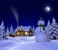 χιόνι καμπινών Στοκ Εικόνες