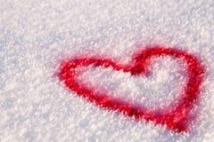 χιόνι καρδιών Στοκ Φωτογραφίες