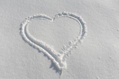 χιόνι καρδιών στοκ εικόνα