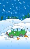 χιόνι κινούμενων σχεδίων α&up Στοκ Φωτογραφία