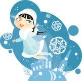 χιόνι κοριτσιών Απεικόνιση αποθεμάτων