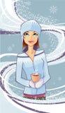 χιόνι κοριτσιών ελεύθερη απεικόνιση δικαιώματος