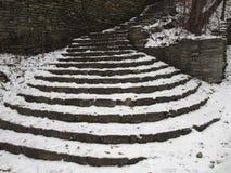 Χιόνι κλιμακοστάσιων Στοκ Φωτογραφίες