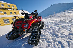 χιόνι μηχανικών δίκυκλων Στοκ Φωτογραφίες