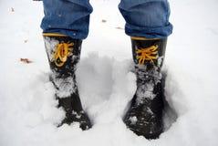 χιόνι μποτών Στοκ εικόνα με δικαίωμα ελεύθερης χρήσης