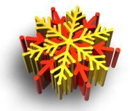χιόνι νιφάδων χρώματος ελεύθερη απεικόνιση δικαιώματος