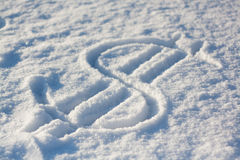 Χιόνι δολαρίων στοκ φωτογραφίες με δικαίωμα ελεύθερης χρήσης